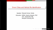 "Lecture by Dr. Ratnesh Kumar ""Vehicle Re-identification for Smart Cities: A New Baseline Using Triplet Embedding"""