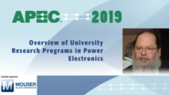 Power Electronics University Research: APEC 2019
