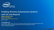 Enabling Wireless Autonomous Systems with 5G and Beyond