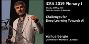 2019 ICRA Plenary- Challenges for Deep learning towards AI