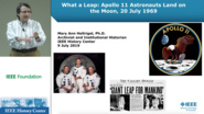 What a Leap: The Apollo 11 Moon Landing - IEEE History Center presentation