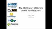 The R&D History of On-Line Electric Vehicles (OLEV)
