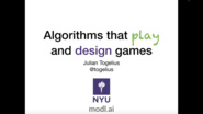 Algorithms that Play and Design Games