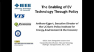 Transportation Electrification: Policy and Technology, Challenges and Opportunities