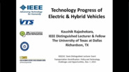 Technology Progress of the Electric and Hybrid Vehicles