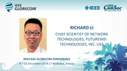 Globecom 2019: Richard Li Keynote