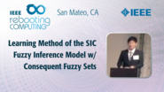 Learning Method of the SIC Fuzzy Inference Model - Genki Ohashi - ICRC San Mateo, 2019