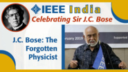 J.C. Bose: The Forgotten Physicist - D.P. Sengupta - IEEE India
