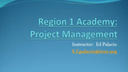 Project Management with Ed Palacio