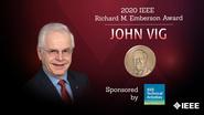 Honors 2020: John Vig Wins the IEEE Richard M. Emberson Award