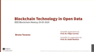IEEE@Home Blockchain Series: Blockchain in Open Data