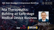 IEEE Brain: Nia Therapeutics: Building an Early-stage Medical Device Business