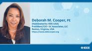 Deborah M. Cooper, PE - Candidate, IEEE-USA President-Elect 2021