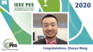 IEEE PES Awards 2020: IEEE PES Outstanding Young Engineer Award