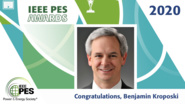 IEEE PES Awards 2020: IEEE PES Ramakumar Family Renewable Energy Excellence Award