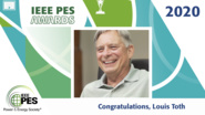 IEEE PES Awards 2020: IEEE PES IAS A. P. Seethapathy Rural Electrification Excellence Award