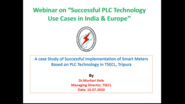 Successful PLC Technology Use Cases in India & Europe