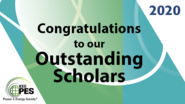 Outstanding Student Scholarships: PES Awards 2020