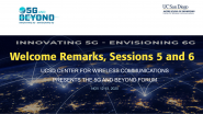 5G and Beyond 2020 - Day 2 Welcome Remarks, Sessions 5 and 6