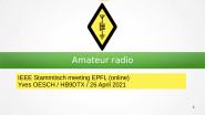 Amateur Radio - April Stammtisch from IEEE Switzerland