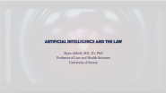 Artificial Intelligence & the Law