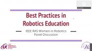 IEEE RAS Women in Robotics Panel Discussion