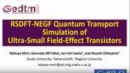 RSDFT-NEGF Quantum Transport Simulation of Ultra-Small Field-Effect Transistors