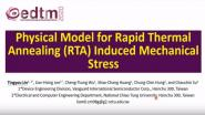 Physical Model for Rapid Thermal Annealing (RTA) Induced Mechanical Stress