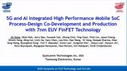 Technology Sessions: 5G and AI Integrated High Performance Mobile SoC Process-Design Co-Development and Production with 7nm EUV FinFET Technology