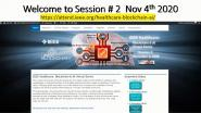 2020 IEEE Healthcare: Blockchain & AI - Medical Devices Industry Day: Opening & Welcome