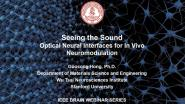 IEEE Brain: Seeing the Sound: Optical Neural Interfaces for In Vivo Neuromodulation