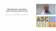 High-temperature Conventional Superconductivity at High Pressures: Applied Superconductivity Conference 2020