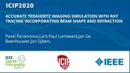 ACCURATE TERAHERTZ IMAGING SIMULATION WITH RAY TRACING INCORPORATING BEAM SHAPE AND REFRACTION