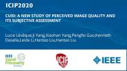 CUID: A NEW STUDY OF PERCEIVED IMAGE QUALITY AND ITS SUBJECTIVE ASSESSMENT