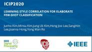 LEARNING STYLE CORRELATION FOR ELABORATE FEW-SHOT CLASSIFICATION