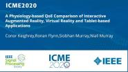 A Physiology-based QoE Comparison of Interactive Augmented Reality, Virtual Reality and Tablet-based Applications