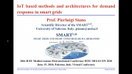 IEEE Melecon 2020 - Tutorial Track 4, Part 1 - Pierluigi Siano - IoT-based Methods & Architectures for Demand Response in Smart Grids