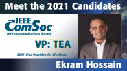Meet the 2021 ComSoc Candidates: Ekram Hossain, Candidate for VP of Technical & Educational Activities