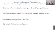 Quantum Information at UNM by Elizabeth Crosson