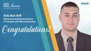 Meritorious Achievement in Outreach & Informal Education - Anis Ben Arfi - 2020 EAB Awards