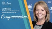 Meritorious Achievement Award in Pre-University Education - Lori Nelson - 2020 EAB Awards