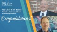 Meritorious Achievement Award in Continuing Education - Roy Cossé & Jim Bowen - 2020 EAB Awards