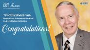 Meritorious Achievement Award in Accreditation Activities - Timothy Skvarenina - 2020 EAB Awards
