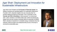 Deployment-Led Innovation for Sustainable Infrastructure: In Conversation with Jigar Shah