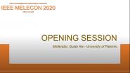 IEEE MELECON 2020 - Opening Keynote