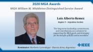 Luis Alberto Remez - MGA William W. Middleton Distinguished Service Award