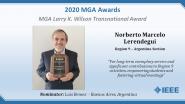 Norberto Marcelo Lerendegui - MGA Larry K. Wilson Transnational Award