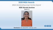 IEEE Kerala Section (R10) - MGA Outstanding Large Section Award