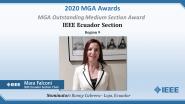 Mara Falconi - MGA Outstanding Medium Section Award