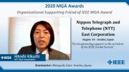 NTT Corporation - Hitoshi Kikuchi - Organizational Supporting Friend of IEEE MGA Award
